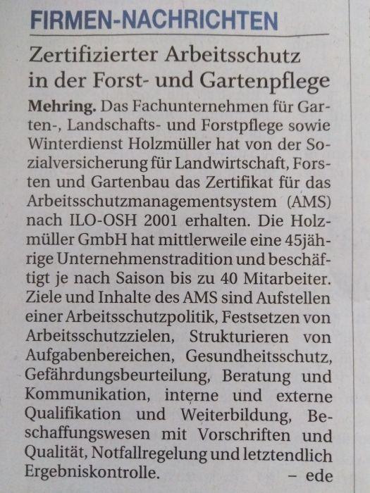 AMS Urkunde Übergabe
